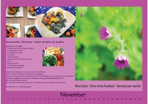 Wandkalender November